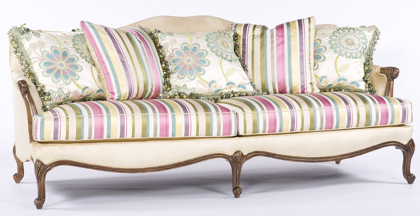 Bold And Beautiful French Style Sofa