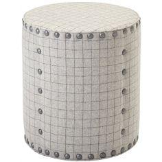 Grid Cylindrical Ottoman