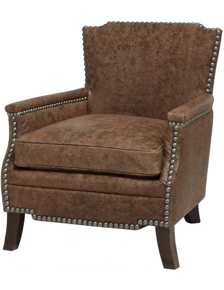 Luxury Leather & Upholstered Furniture Desperado Saddle Bag Upholstered Arm Chair