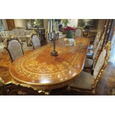 10 Luxury dining furniture. Exquisite Boulle marquetry