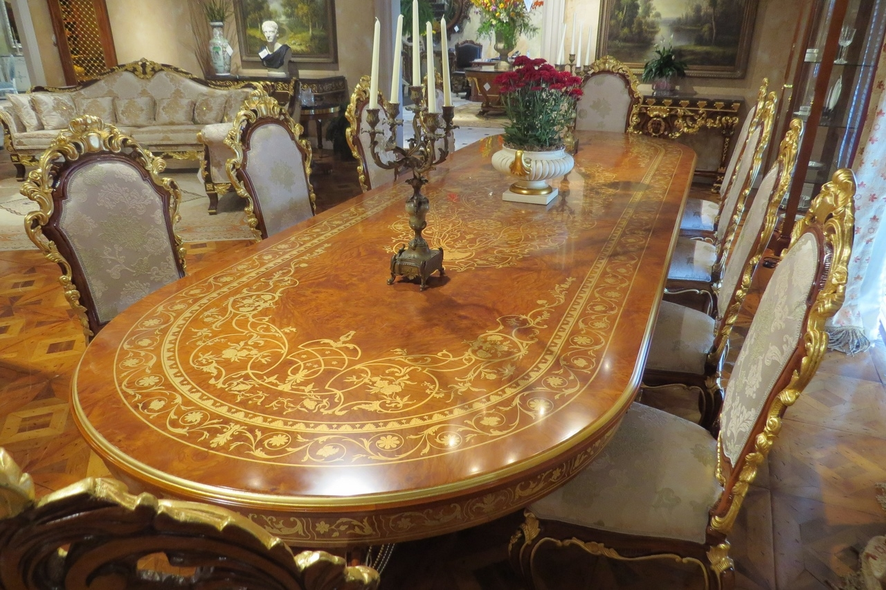 10 luxury dining furniture exquisite boulle marquetry for Luxury dining room furniture
