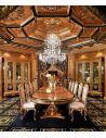 Handmade Italian Luxury Furniture Luxury dining furniture. Exquisite Boulle marquetry work.