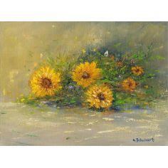 Bouquet, original oil paintings. Artist Anne-Marie Debuissert.