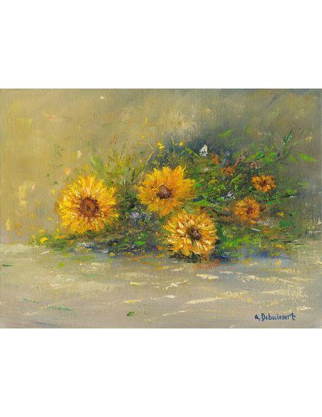 Original Oil Paintings By Artist: Anne-Marie Debuissert Bouquet, original oil paintings. Artist Anne-Marie Debuissert.