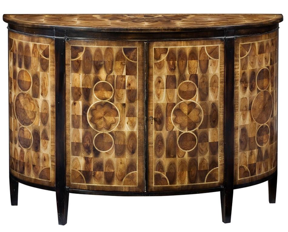 Bow Front Cabinet Solid Walnut With Cast Brass Hardware High End Home Furnishings