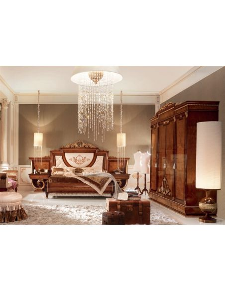Bed with Finely Padded Headboard and Footboard