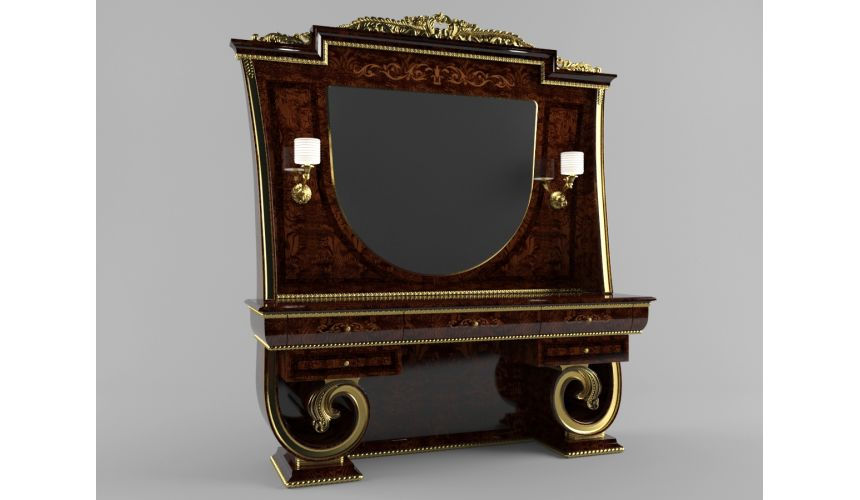 Furniture Masterpieces Complete Dressing Table with Curved Legs