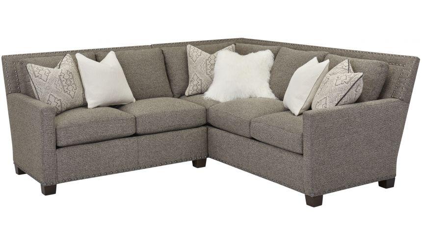 Luxury Leather & Upholstered Furniture Geneve Chocolate Upholstered Sofa