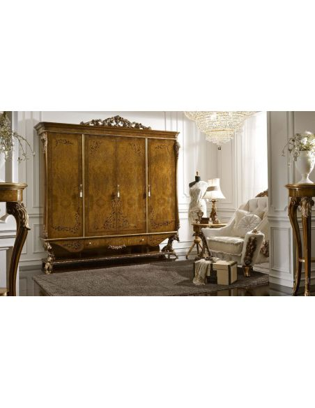 LUXURY BEDROOM FURNITURE King Size 4 Doors Wardrobe