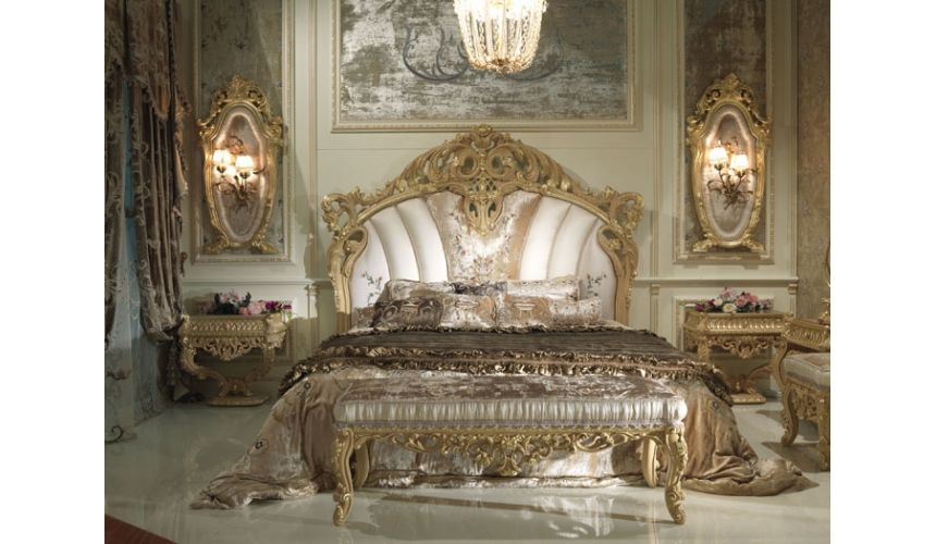 BEDS - Queen, King & California King Sizes Royal Curved Legged Bed