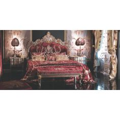 Crimson Red Bed with Surround
