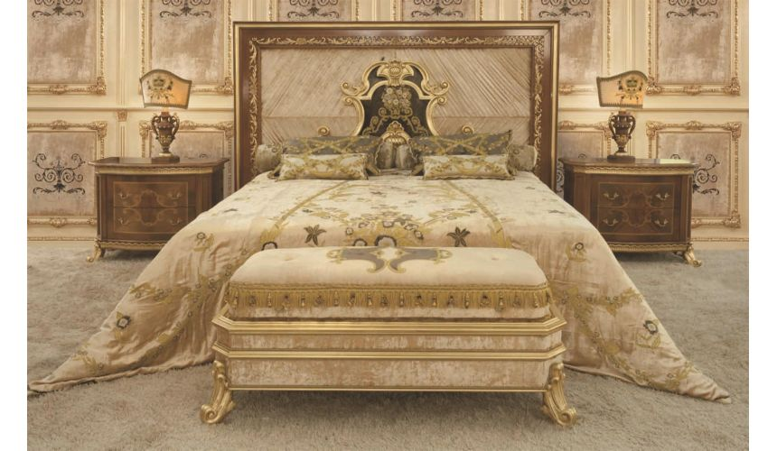 BEDS - Queen, King & California King Sizes Noble Italian Bed with Surround King Sized Headboard