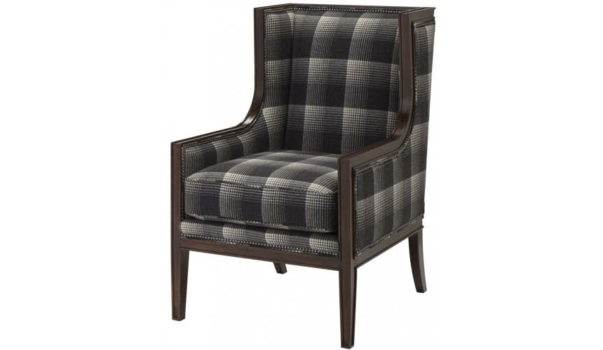 Luxury Leather & Upholstered Furniture Aberdeen Flint Upholstered Arm Chair