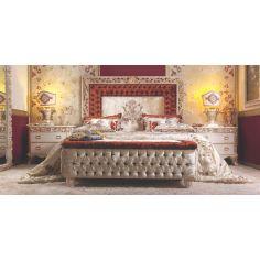 Elegant Master Bed Tufted Headboard