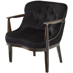 Argo Ebony Tufted Club Chair