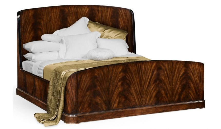LUXURY BEDROOM FURNITURE Old European Style Wingback Bed