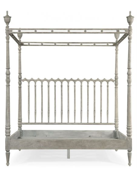 LUXURY BEDROOM FURNITURE Grey Spanish Style Plantation Bed
