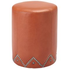 Designer Ottoman with Nail Head Accents