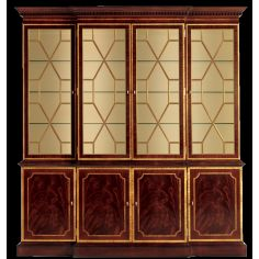 Breakfront china cabinet. American made furniture and furnishings