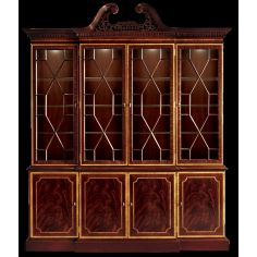 Breakfront china cabinet. American made luxury furniture and furnishings