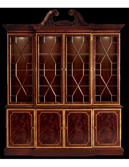 Breakfronts & China Cabinets Breakfront china cabinet. American made luxury furniture and furnishings