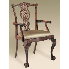 Brendas Dining Chairs. Mahogany carved Chippendale