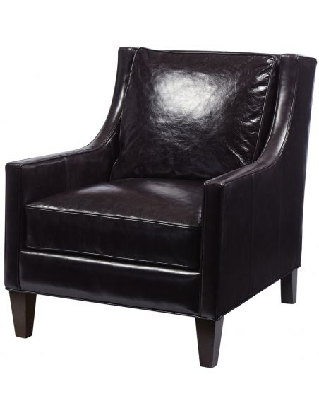 Luxury Leather & Upholstered Furniture Monte Cristo Carbon Club Chair