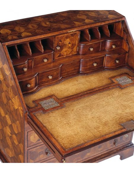 Executive Desks Walnut Bureau Cabinet, Secretary. 522