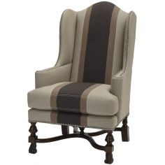 Antiqued Wingback Chair