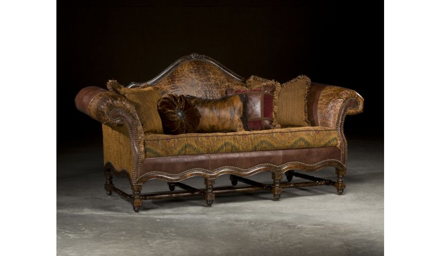 Luxury Leather & Upholstered Furniture Call of the wild sofa, High End Furniture