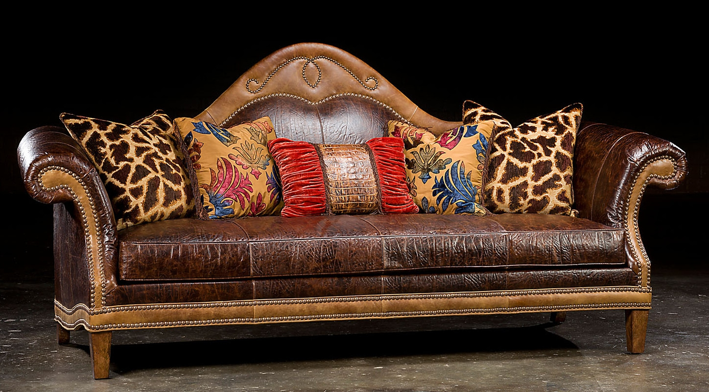 Camel Back Country Western Sofa Usa Made