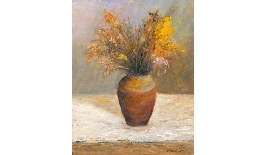 Original Oil Paintings By Artist: Anne-Marie Debuissert Canvas print artwork Organic Bouquet