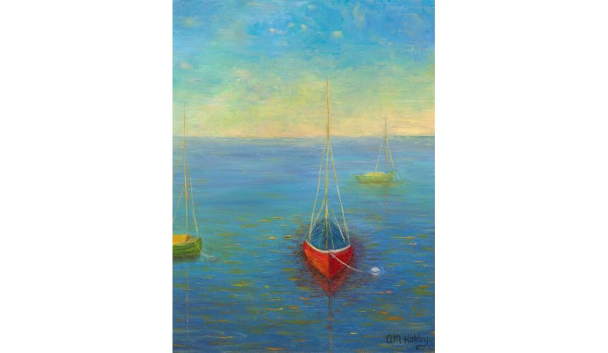 Original Oil Paintings By Artist: Anne-Marie Debuissert Canvas print take me sailing Narragansett Rhode Island