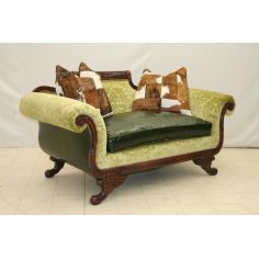 Carved Frame Love Seat 8403-04
