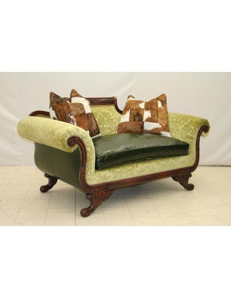 Carved Frame Love Seat 8403-04