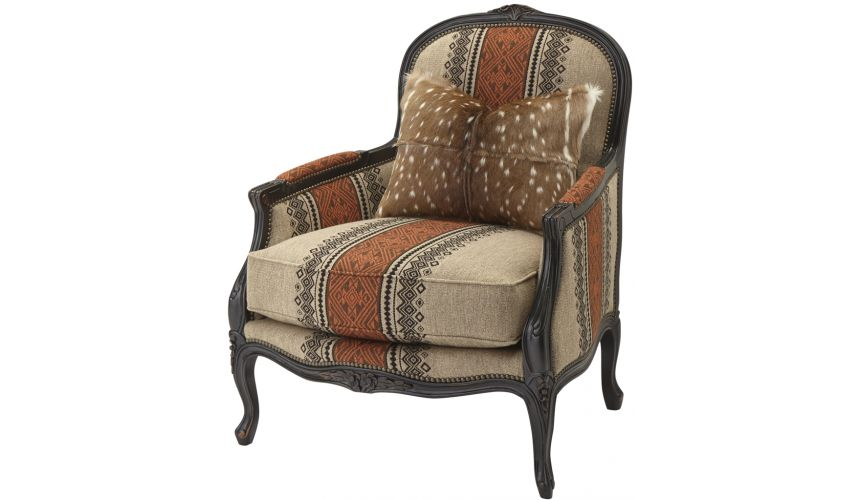 Luxury Leather & Upholstered Furniture Stylish Arm Chair
