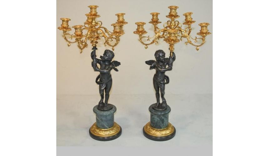 Decorative Accessories Tabletop Decor Accessories Cherub Candleabra Pair