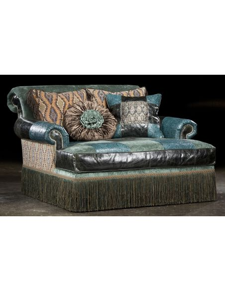 SETTEES, CHAISE, BENCHES Chaise Chair high style, leather, fabric