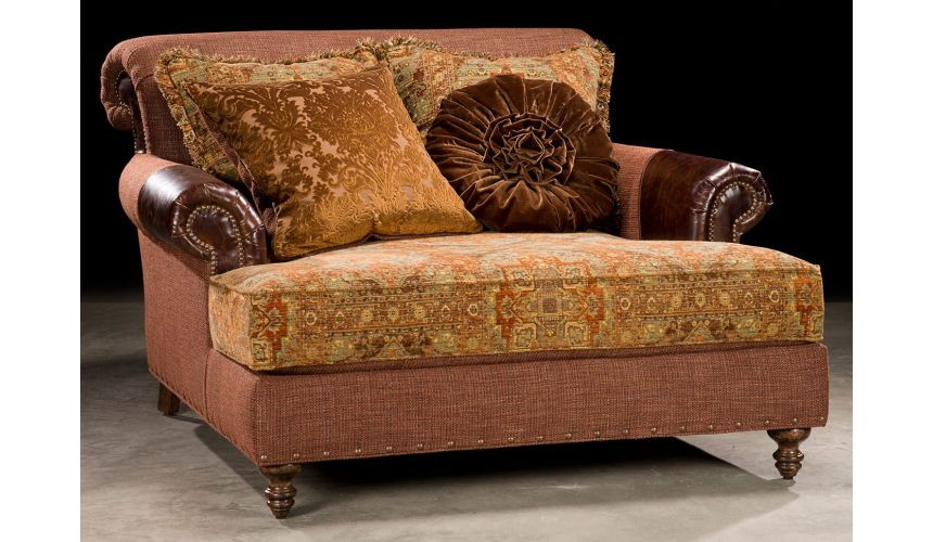 Luxury Leather & Upholstered Furniture Chaise lounge. Grand home furnishings. 524