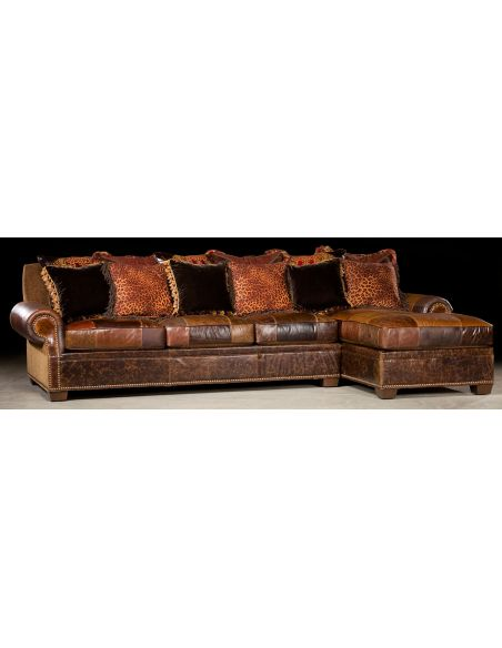 Luxury Leather & Upholstered Furniture Chaise lounge and sofa. Furniture and furnishings. 44