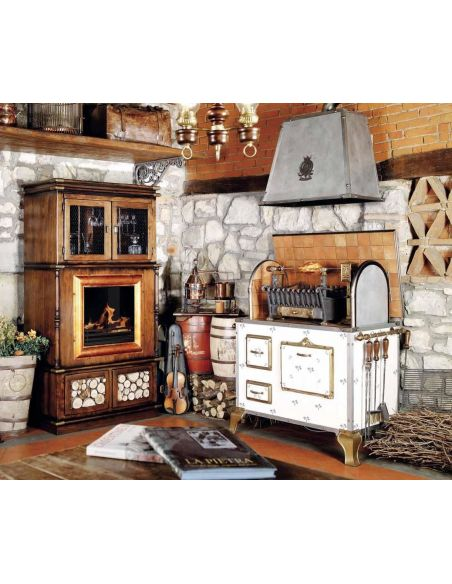 Kitchen Cabinetry WOOD AND CHARCOAL FIRED INDOOR OUTDOOR GRILL