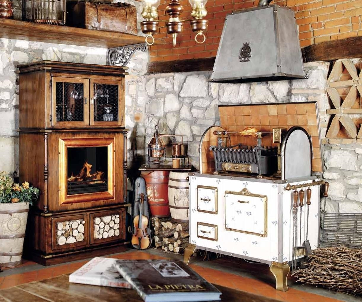wood and charcoal fired indoor outdoor grill