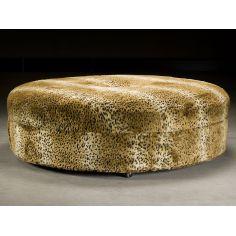 Cheetah Print Ottoman. Luxury Furniture