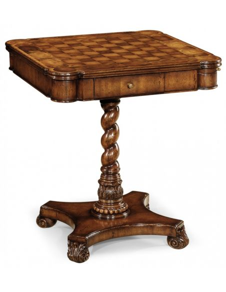 Game Card Tables & Game Chairs Chess game table. Upscale home furnishings