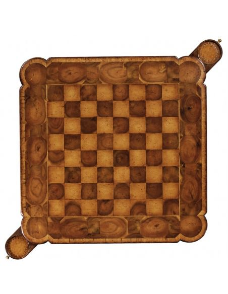 Chess game table. Upscale home furnishings
