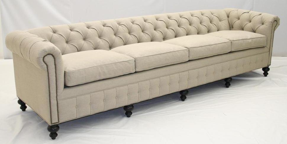 Chesterfield Linen Sofa Sofa Collections Rh TheSofa