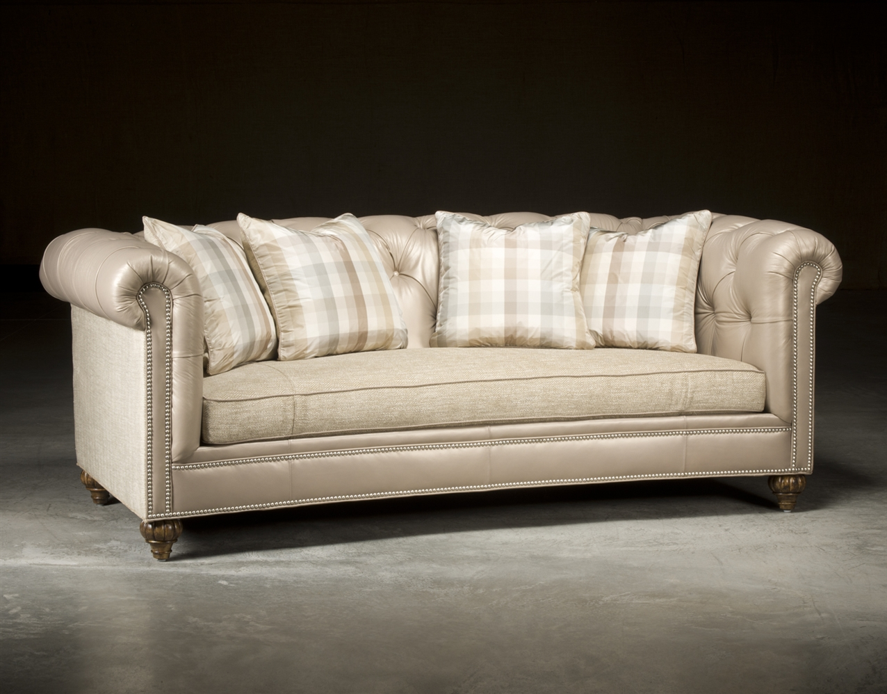 chesterfield tufted sofa high end upholstered furniture