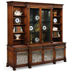 Breakfront China Cabinet. High end dining rooms, home furnishings.