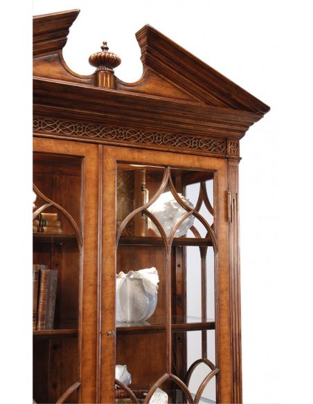 Breakfronts & China Cabinets Crossbanded China Display Cabinet. 76