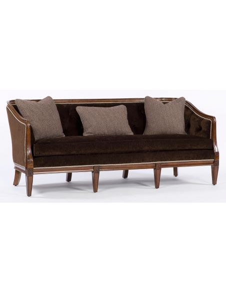 SOFA, COUCH & LOVESEAT Chocolate sofa. Modern style furniture. 97